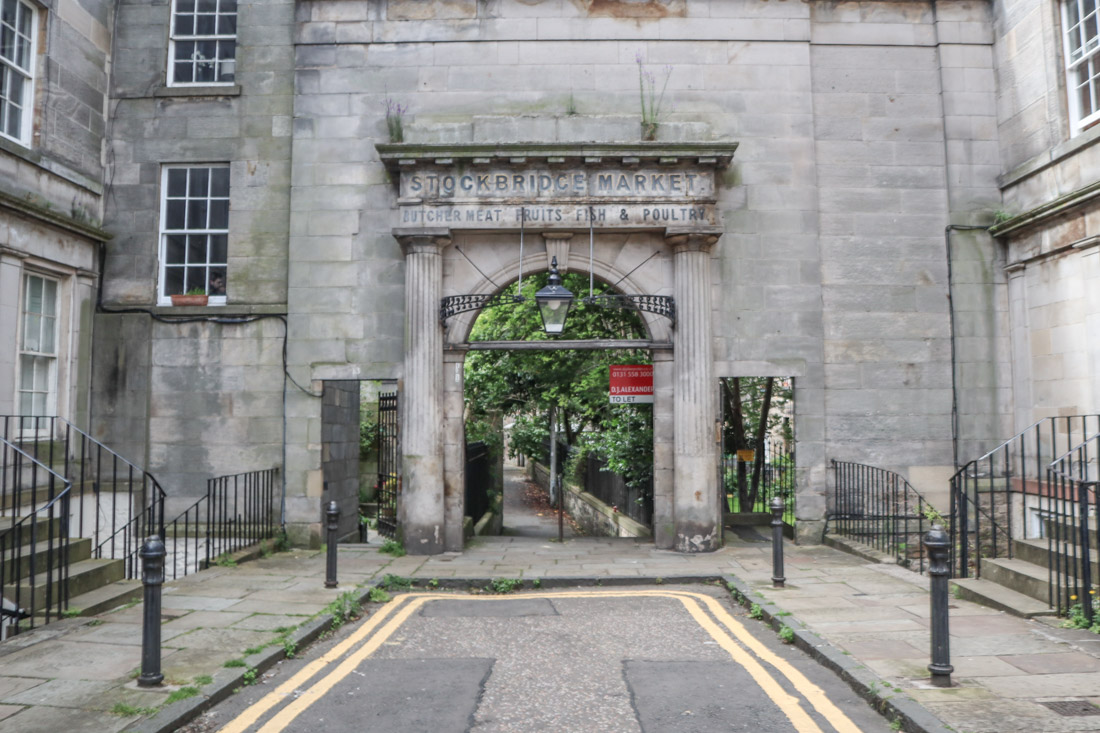 Stockbridge Market Sign Arch Stockbridge Edinburgh
