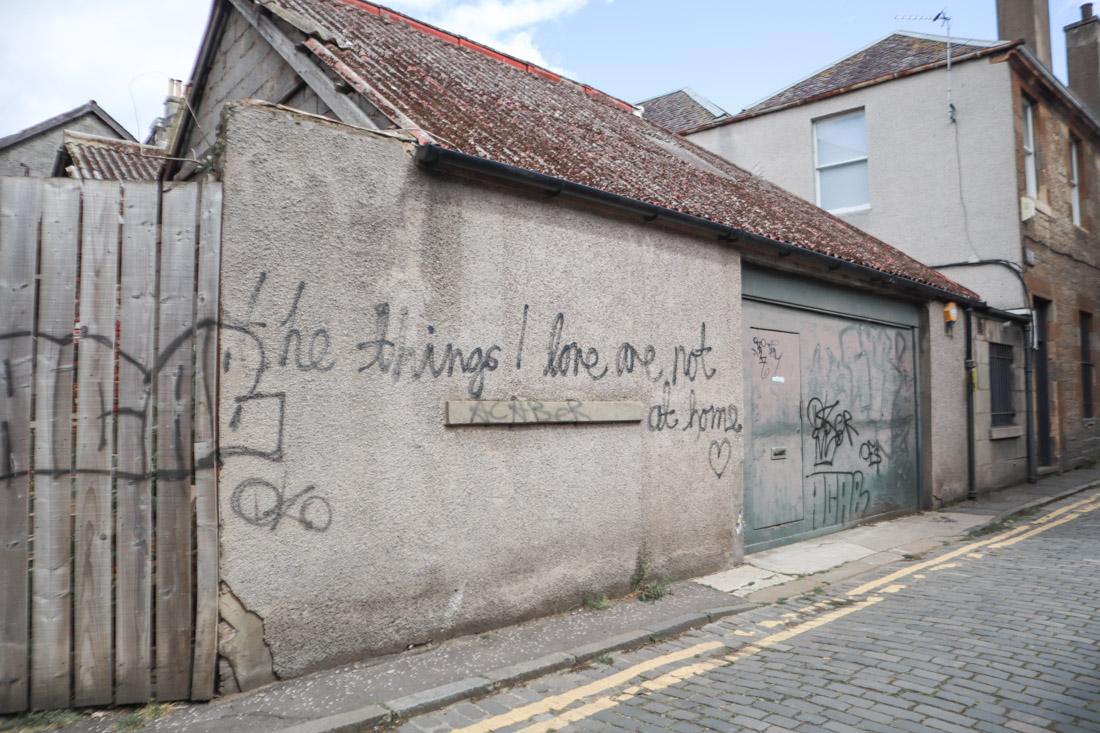 Street Art on Maritime Lane Leith