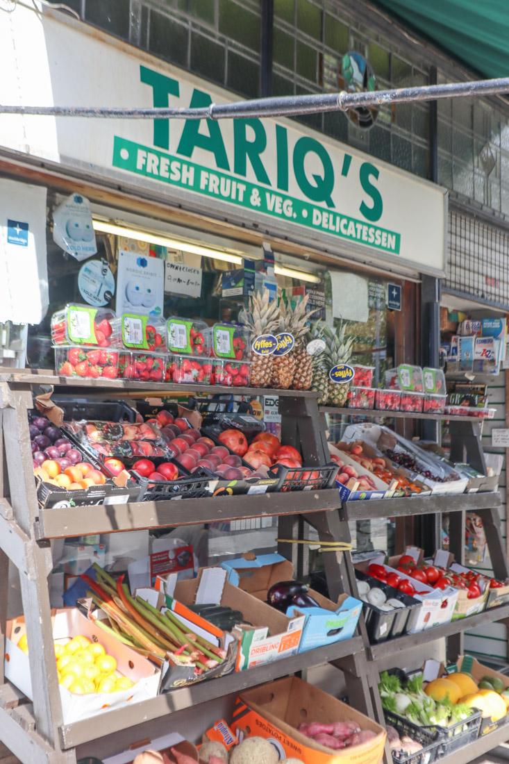 Tariqs fruit and veg shop Stockbridge_
