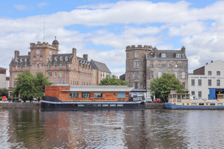 Leith Shore with orange boat
