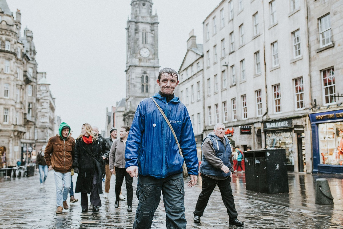 Invisible Cities Edinburgh Tour Guide on Royal Mile