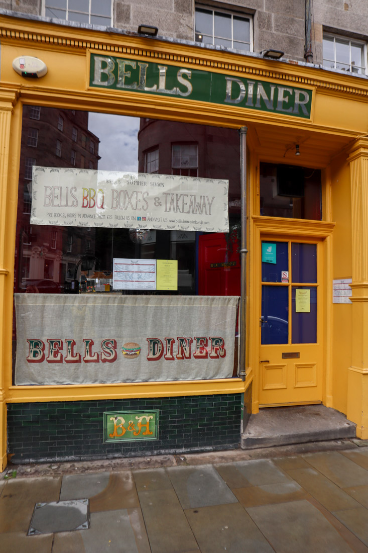 Bells Diner Food Stockbridge Edinburgh_