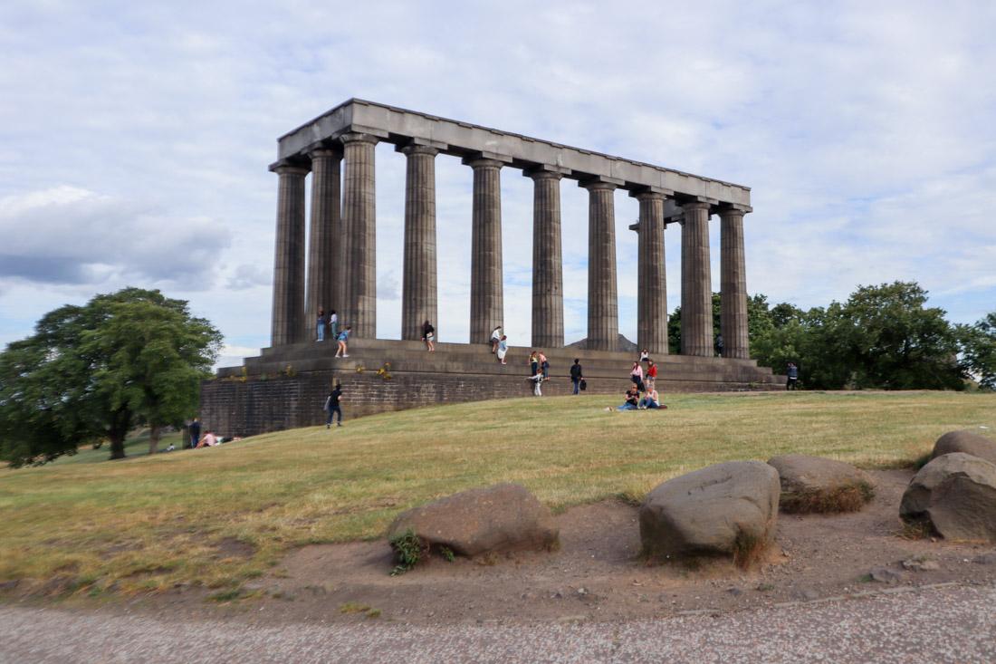 Calton Hill Monument in Edinburgh Parks