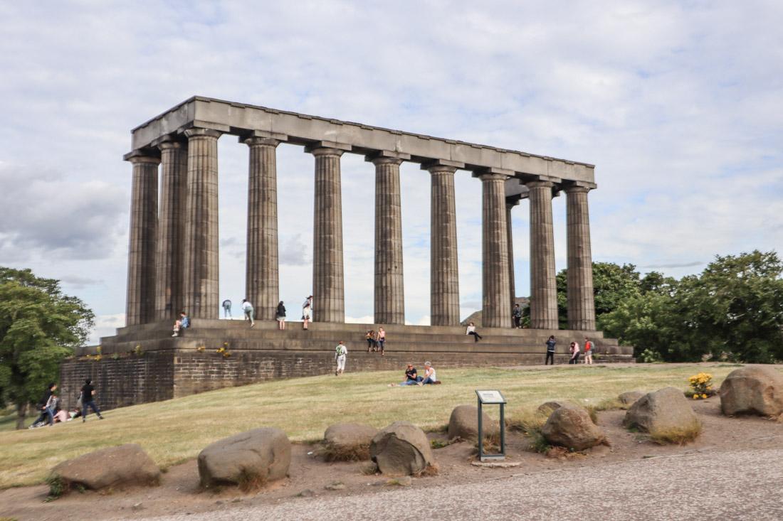 Scottish Monument 12 pillar Calton Hill Edinburgh