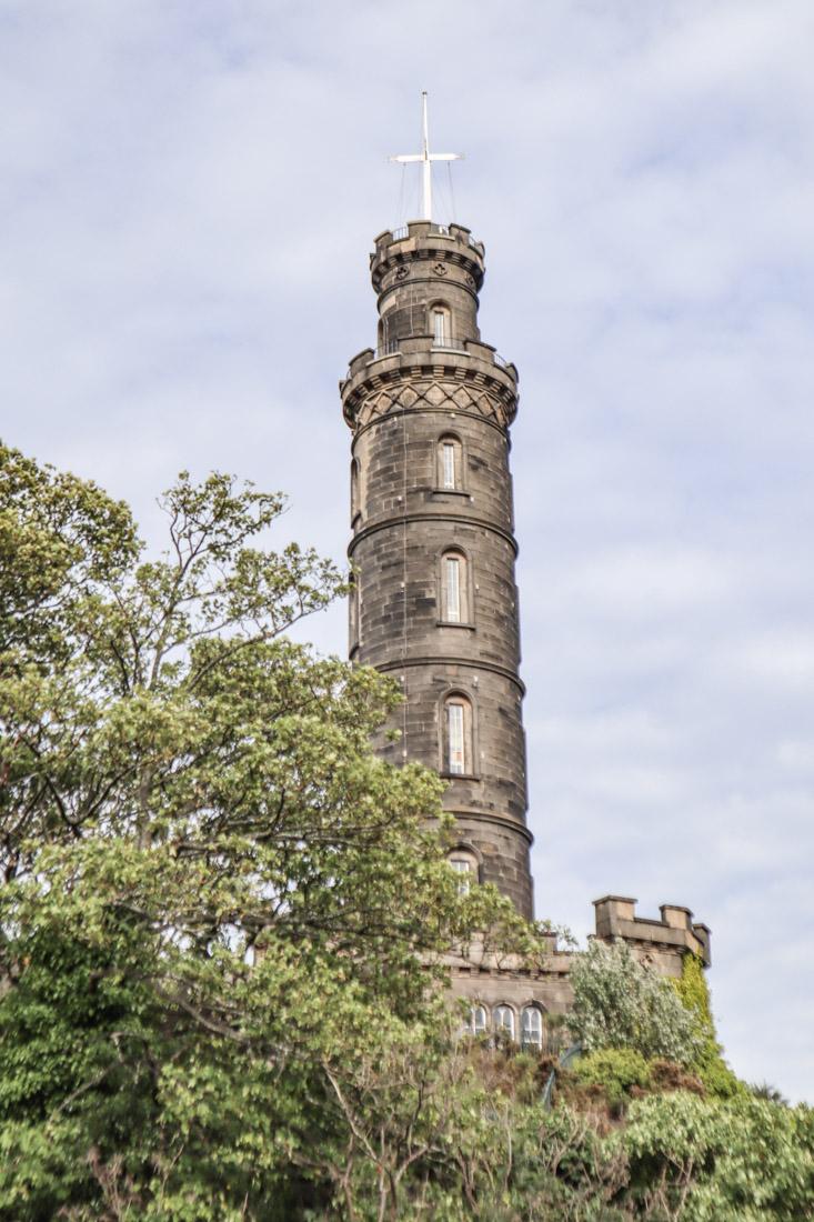 Calton Hill Monument in Edinburgh_