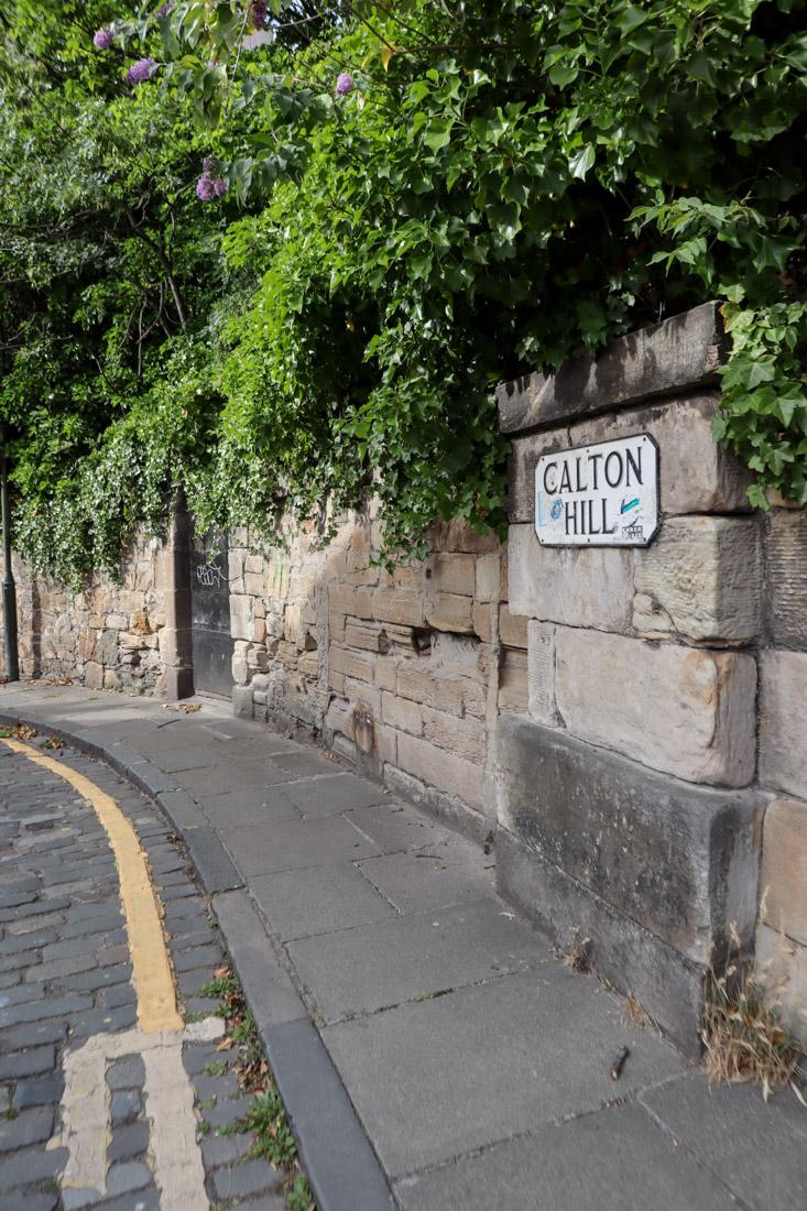 Calton Hill Sign