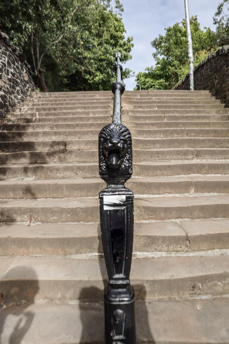 Calton Hill Steps Lion Edinburgh