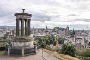Edinburgh city centre airbnbs Calton Hill views