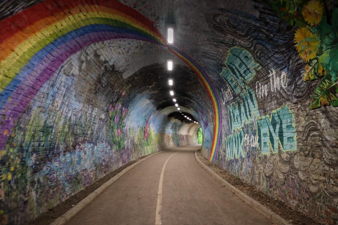 Colinton Tunnel Murals Rainbow Edinburgh