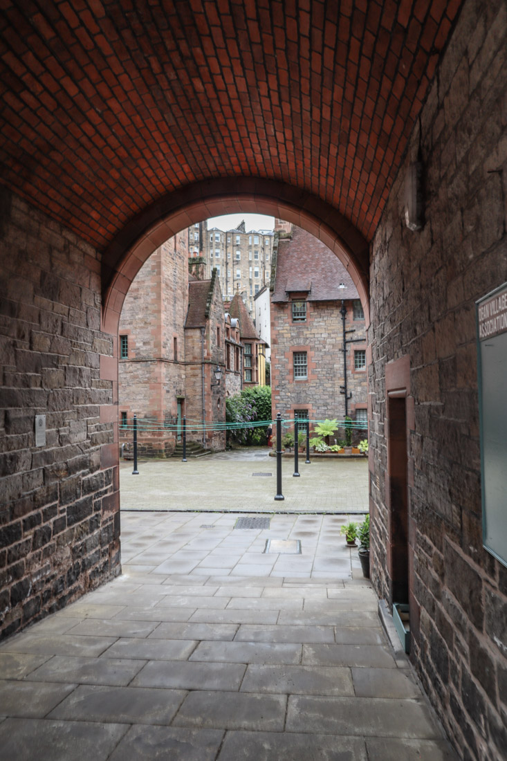 Dean Village Historic Houses Close in Edinburgh