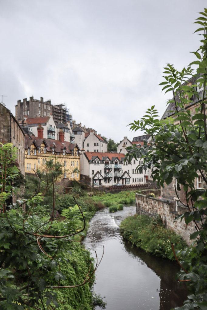 Dean Village Rows of Houses Edinburgh