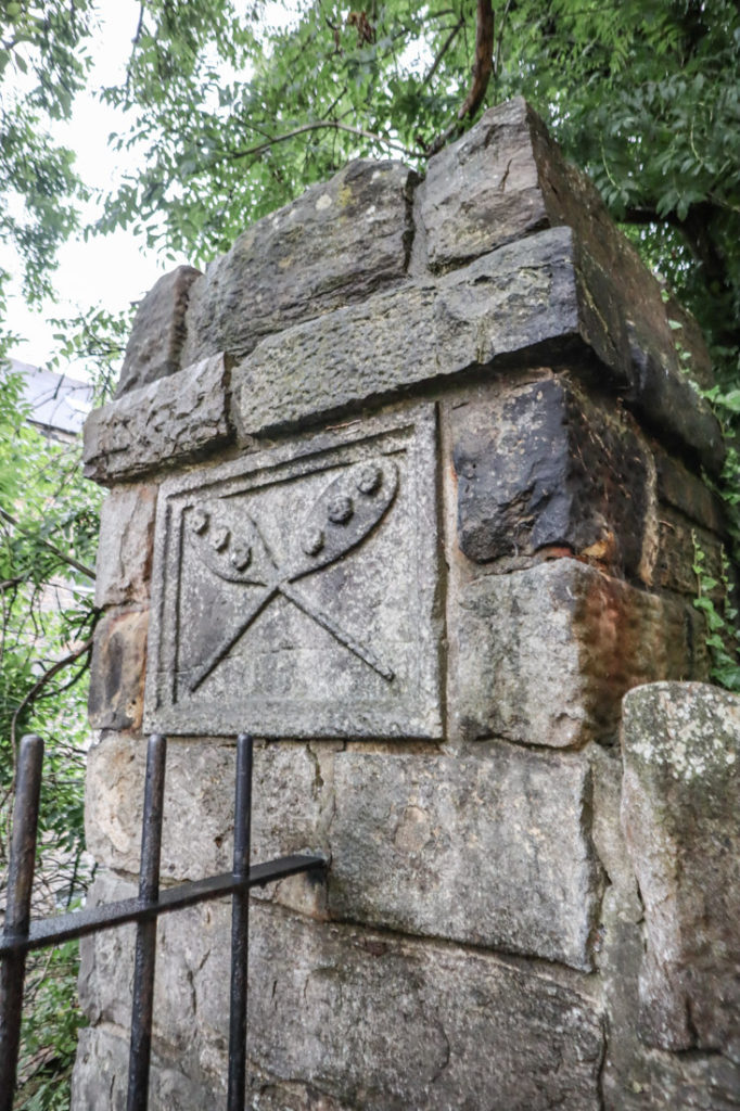 Dean Village Wall Carving of Bread Edinburgh