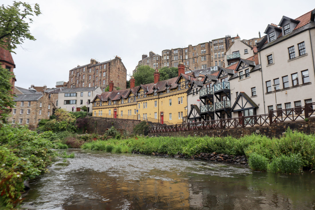Dean Village Water of Leith Yellow Houses