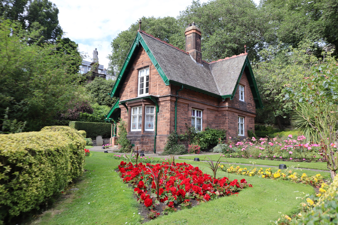 Edinburgh Park Nature Gardeners Cottage Princes St Garden