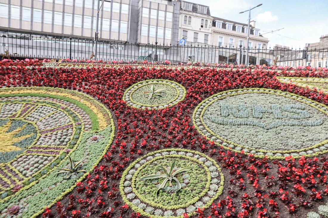 Flower Clock NHS Princes Street Gardens Edinburgh