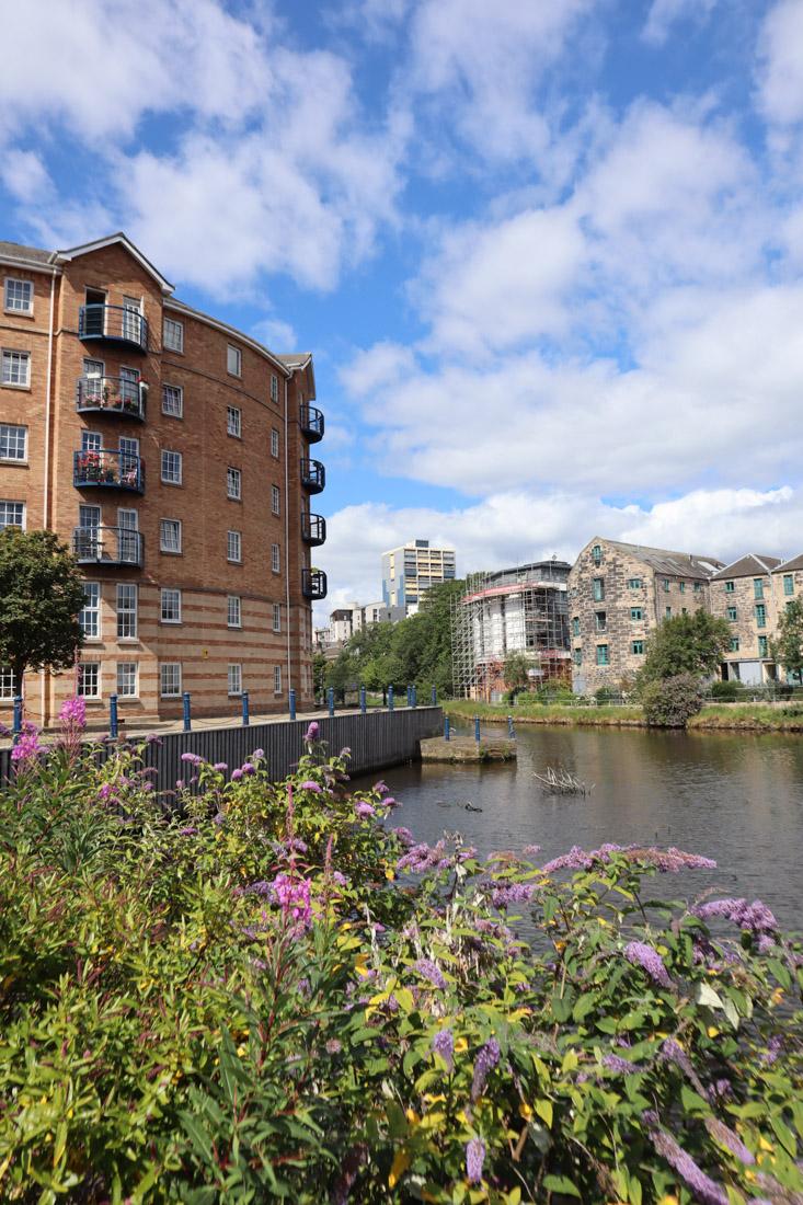 Leith Waters with Buildings Edinburgh