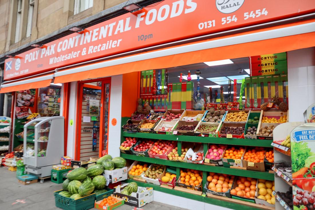 Poly Pak Fruit and Veg Shop Leith Walk Edinburgh