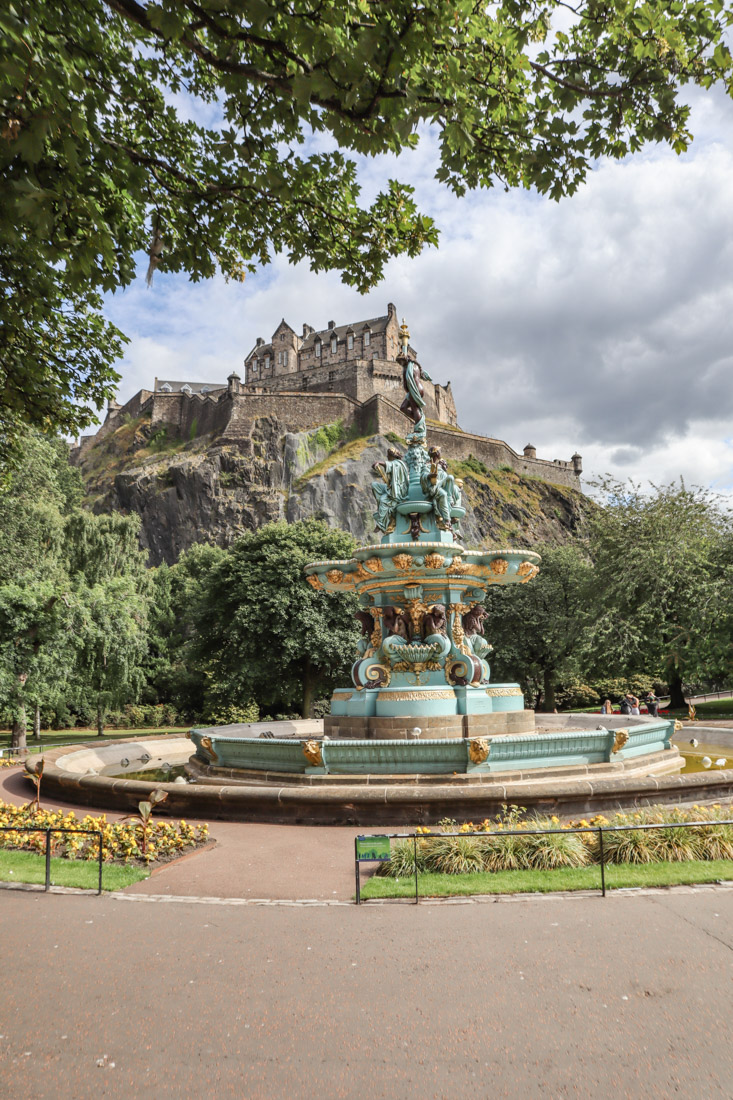 Ross Fountain Princes Street Edinburgh