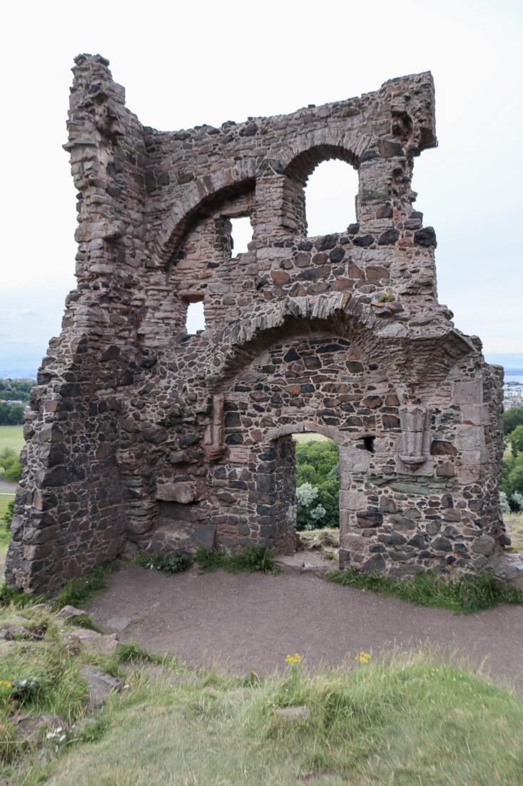 St Anthony Ruin Holyrood Edinburgh Nature