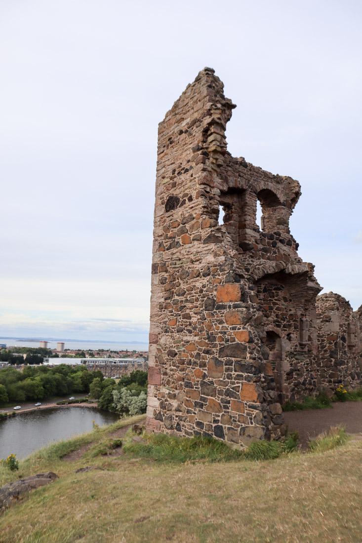 St Anthony Ruins Holyrood Park in Edinburgh Nature