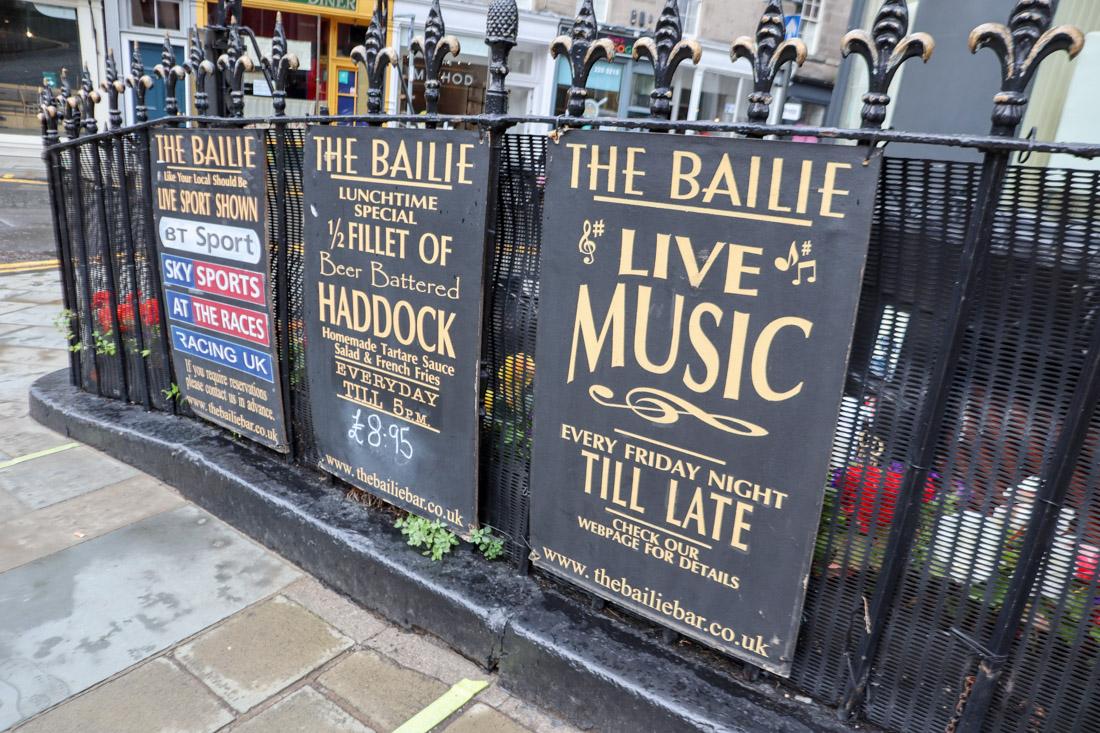 The Bailie Bar Stockbridge Edinburgh_