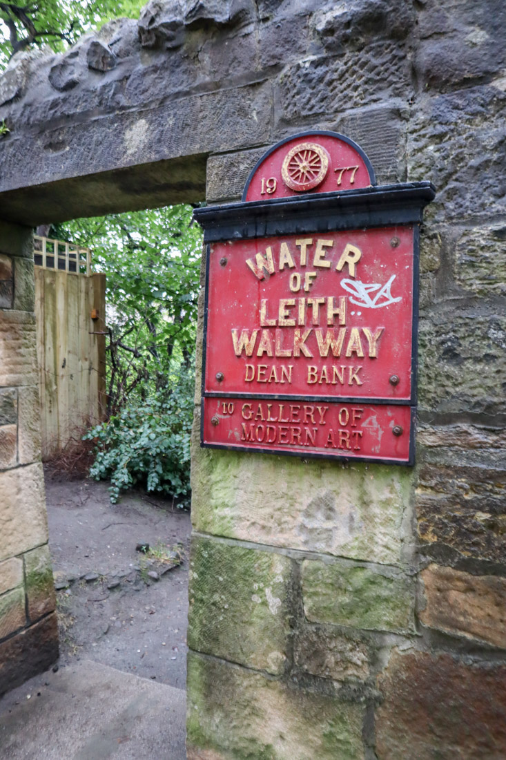 Waters of Leith Sign Edinburgh
