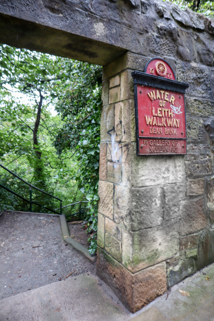 Waters of Leith Walkway Dean Village Sign Edinburgh