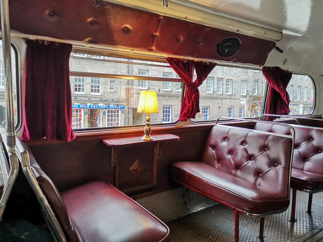 Ghost Bus Inside Edinburgh Tour