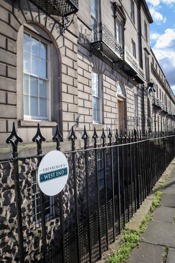 West End sign in Edinburgh-2