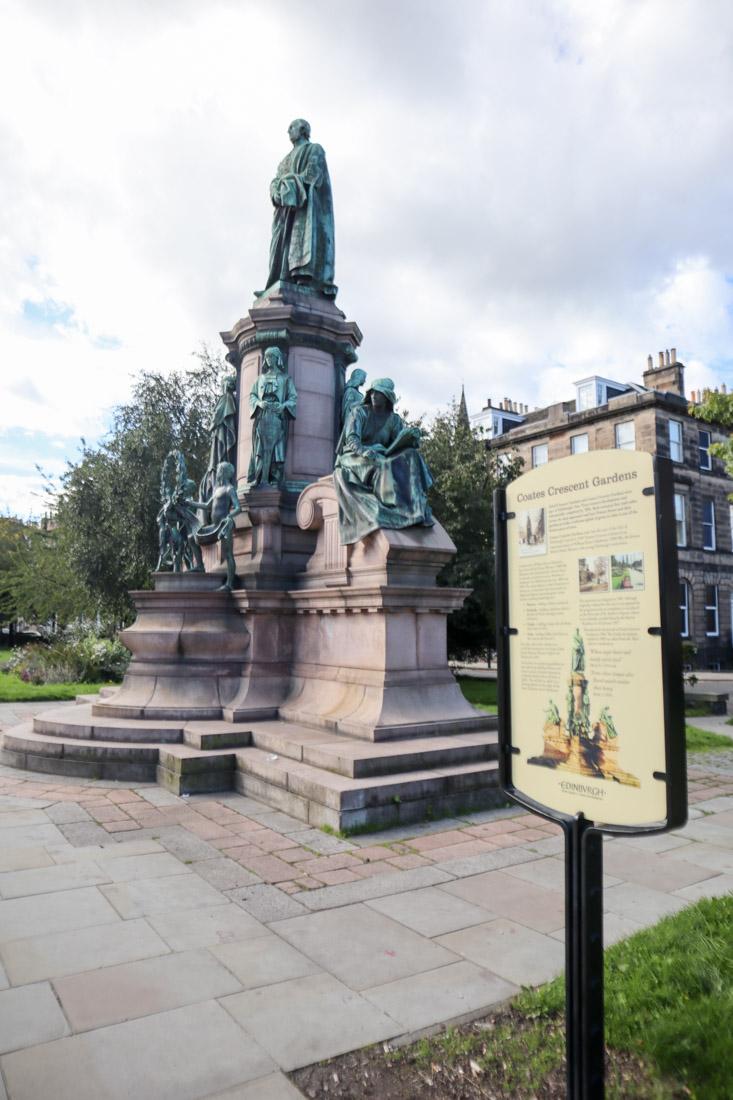 William Ewart Gladstone Monument at Coates Crescent Garden West End