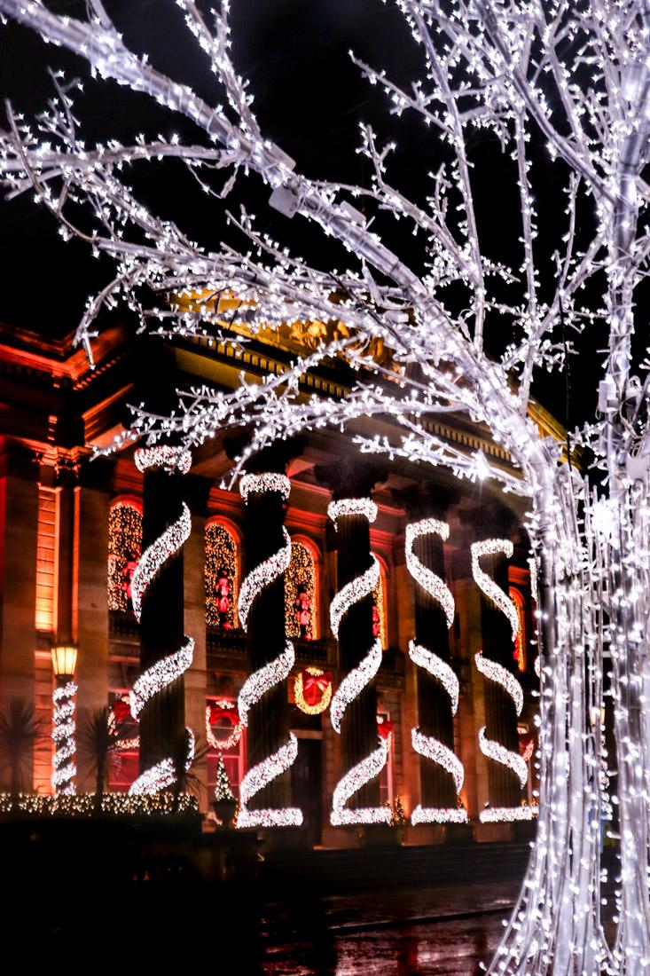 The Dome George Street Lights Edinburgh Christmas