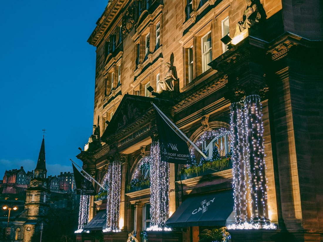 Waldorf Astoria Christmas Lights Edinburgh