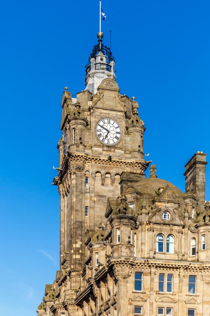 Balmoral Edinburgh Blue skies