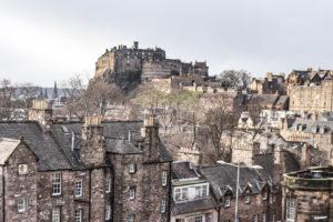Edinburgh Castle House Tops Edinburgh Old Town Views From National Museum