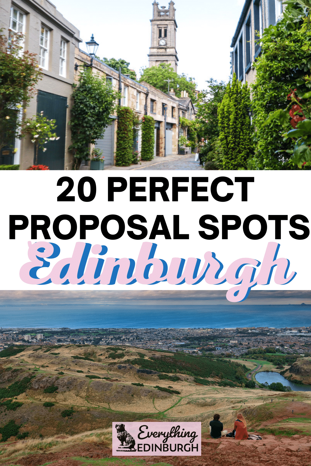 Hey lover! Are you looking for the perfect place to propose in Edinburgh? This guide shares 20 popular and secret proposal locations to help take the stress out of saying YES! Local advice about proposing in Edinburgh included.