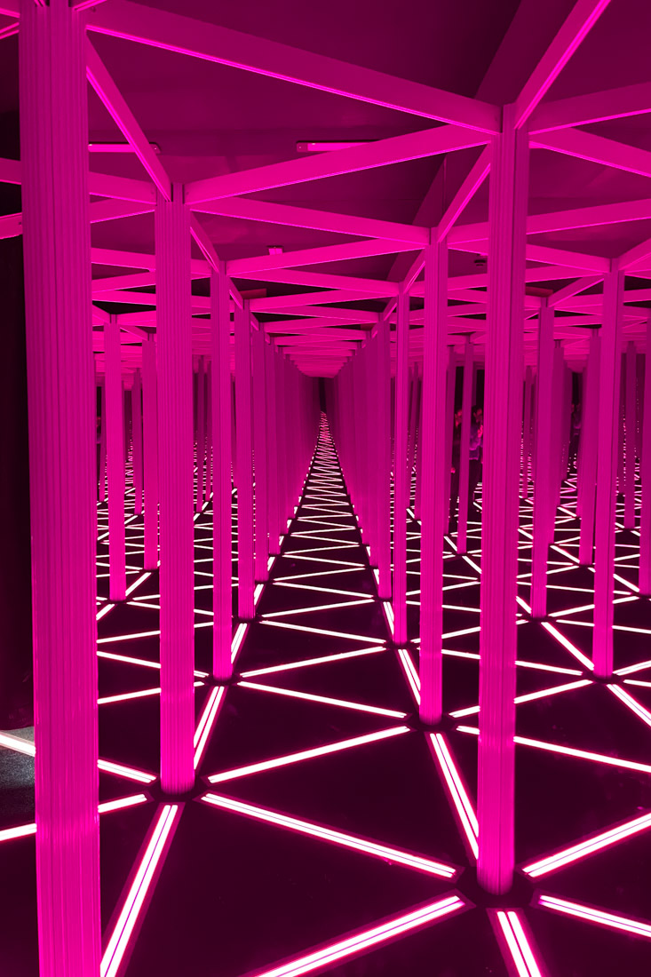 Camera Obscura Edinburgh Magic Mirror Pink Lights