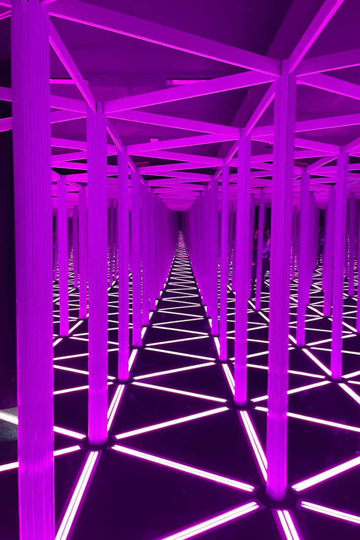 Camera Obscura Edinburgh Magic Mirror Purple Lights