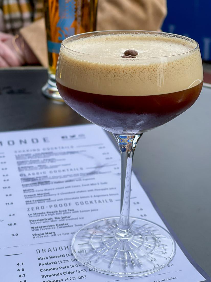 Le Monde Bar Espresso Martini Edinburgh