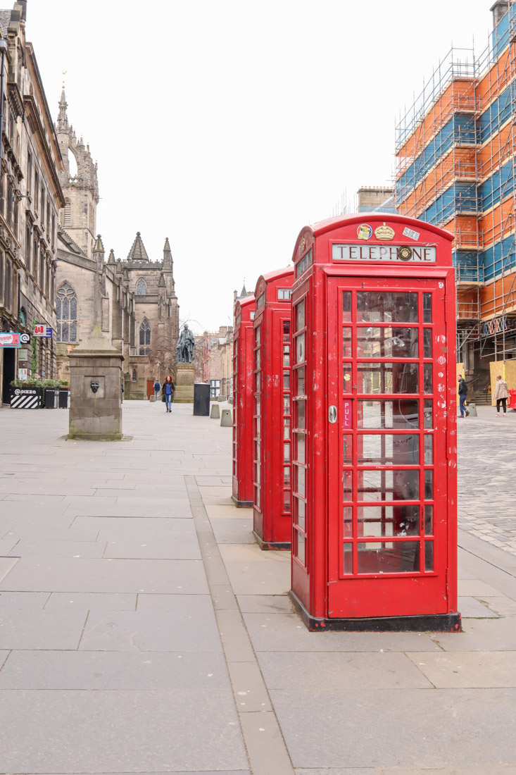Royal Mile Red Phone Boxes