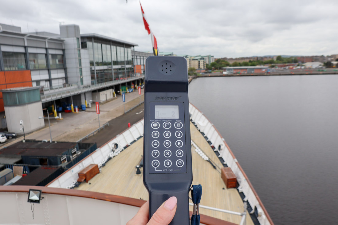 Royal Yacht BRITANNIA bow and audio device