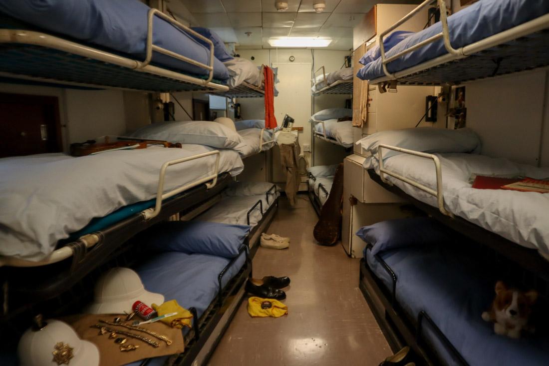 Royal Yacht BRITANNIA Beds Tour
