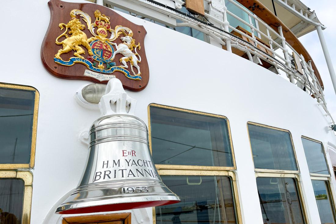 Royal Yacht BRITANNIA Tour Bell on Deck