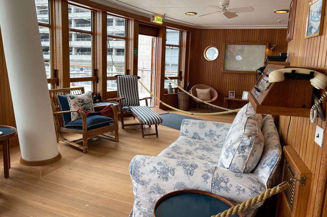 Royal Yacht BRITANNIA Deck Sun Deck Room Tour