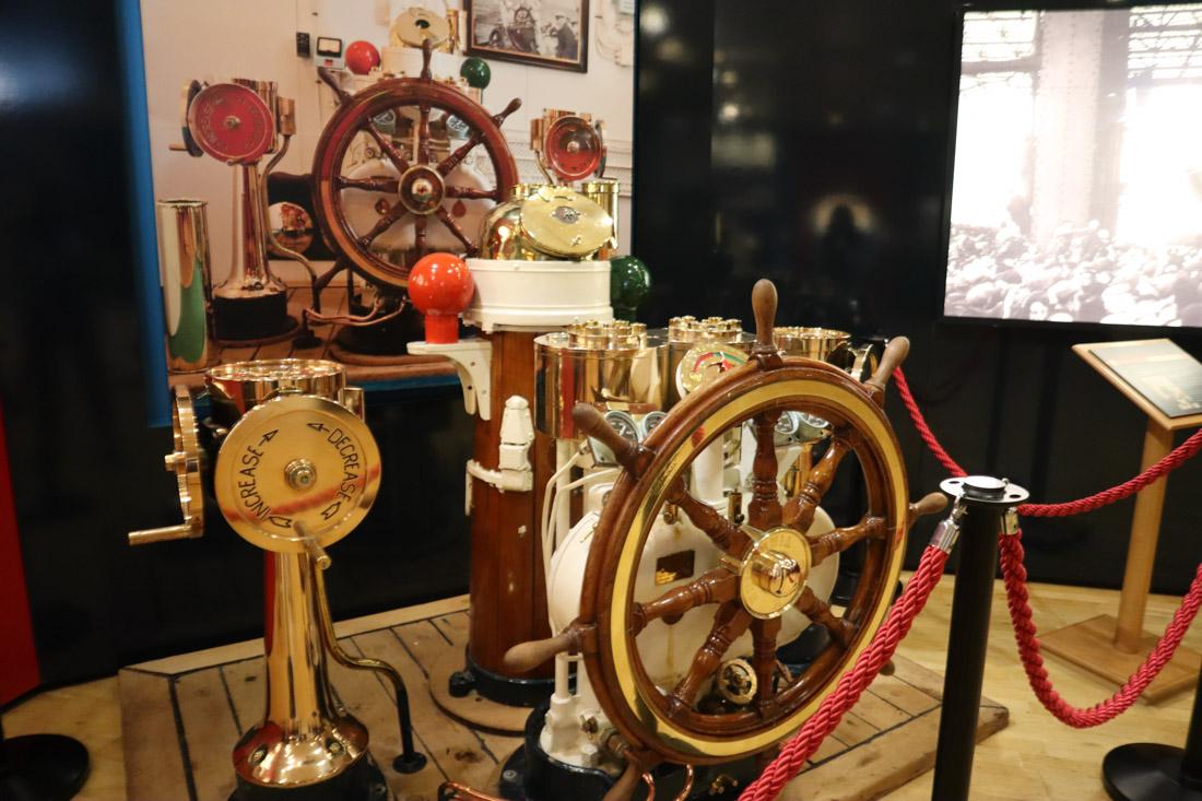 Royal Yacht BRITANNIA Steering Wheel Leith