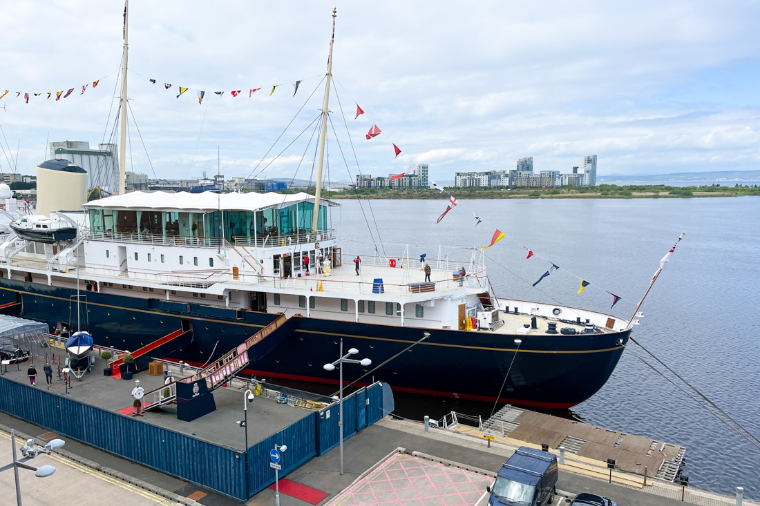 Royal Yacht BRITANNIA at Dock Tour