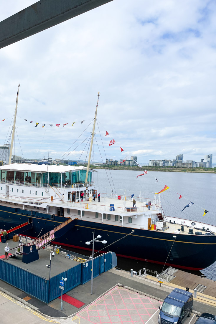 Royal Yacht BRITANNIA at Leith Dock Tour