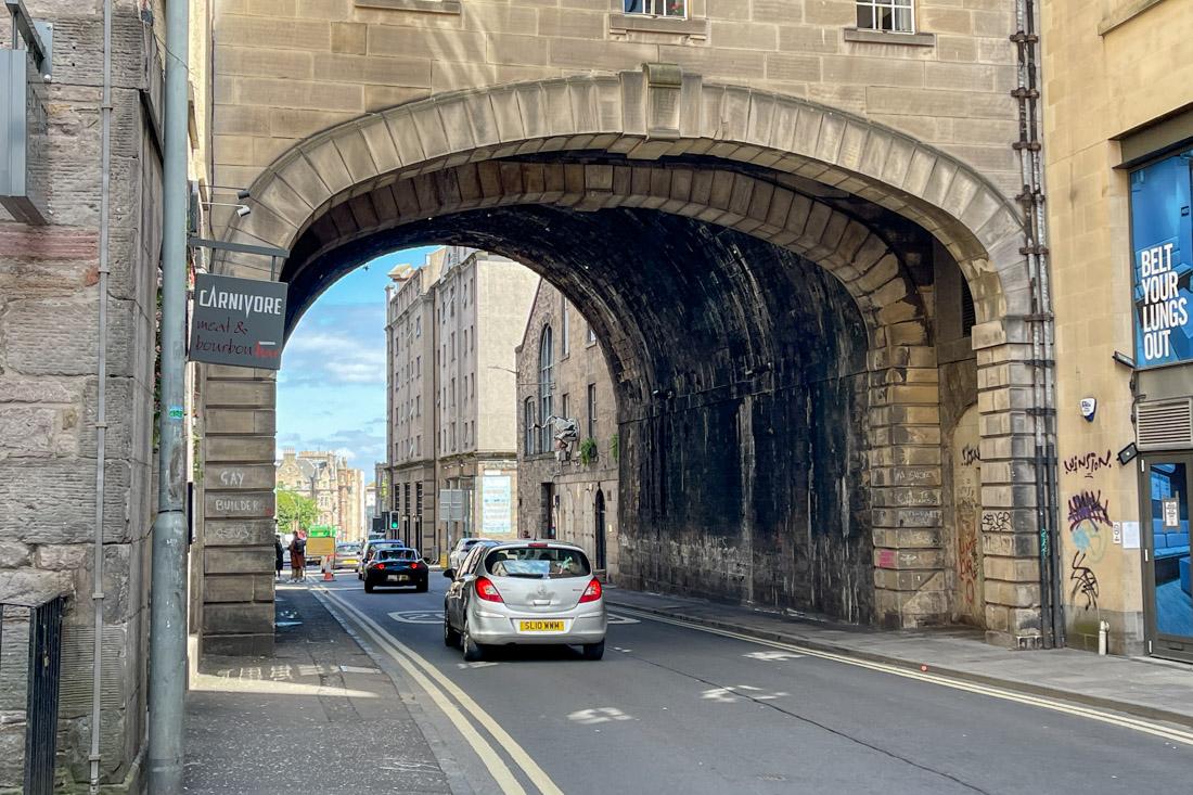 Vault Arch Cowgate Vault Old Town Edinburgh Tour