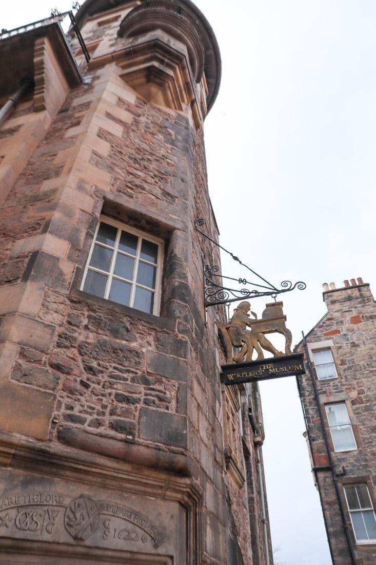Writers Museum sign Edinburgh