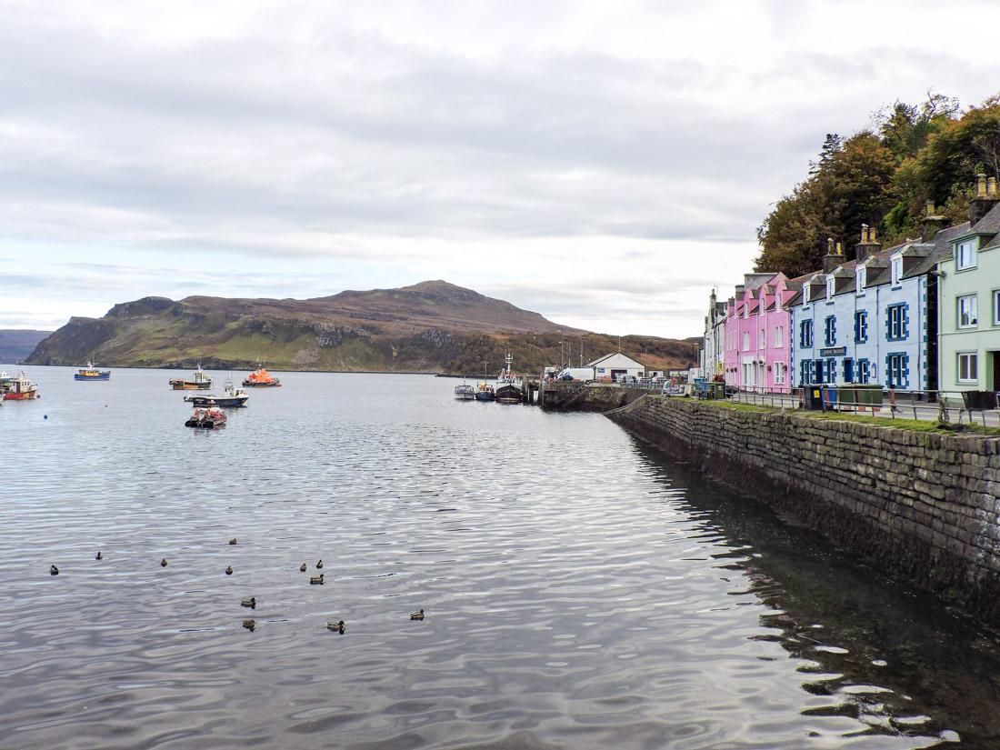 Portree Houses Isle of Skye on Scotland