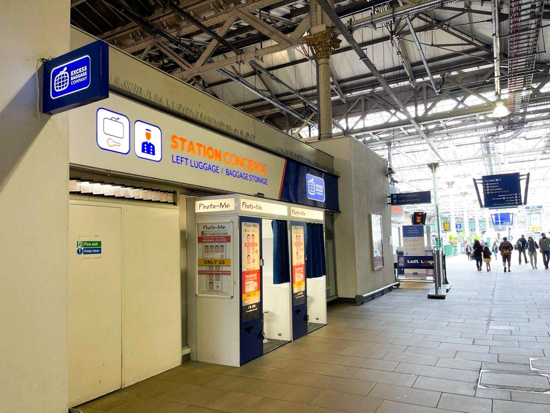 Left Luggage Waverley Train Station Edinburgh